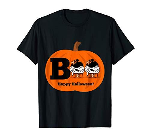 Girly Halloween Cupcakes (Boo Cupcake Halloween T-shirt)