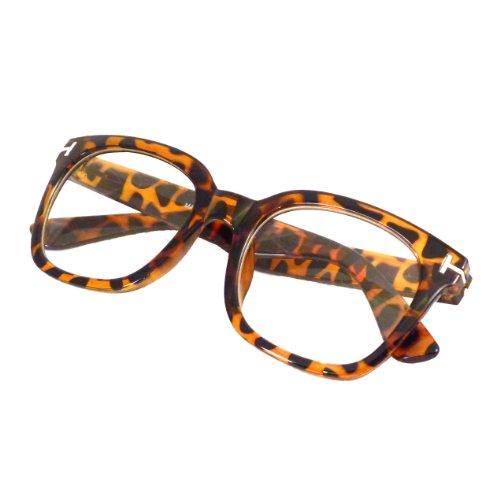 RETRO Designer Style Oversized Thick Frame Clear Lens Eyeglasses - Glasses Rx Discount