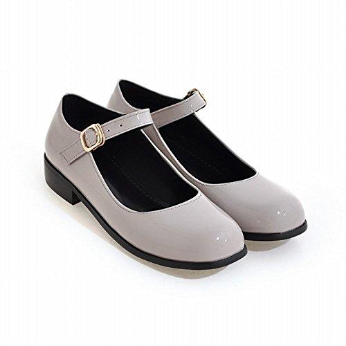 Gris Fermeture Femmes MissSaSa Plats Escarpins Chaussures Boucle xfwYCqw