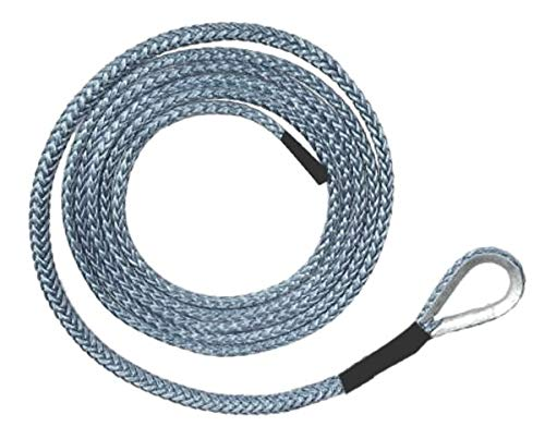 BILLET4X4 U.S. Made AMSTEEL Blue PLOW Rope 1/4 inch x 10 ft (9,200 lb Strength) (Off-Road Vehicle Recovery) by BILLET4X4