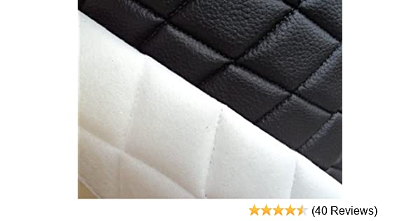 1 X Vinyl Quilted Black Fabric w/ 3/8