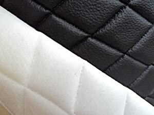Amazon Com 1 X Vinyl Quilted Black Fabric W 3 8 Quot Foam