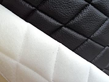Amazon Com 1 X Vinyl Quilted Black Fabric W 3 8 Foam Backing