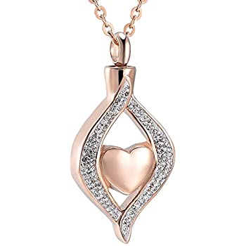 youfeng urn necklaces for ashes always in my heart cremation jewelry