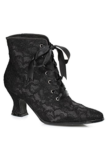 Witch Costume Shoes (Ellie Shoes Women's 253-elizabeth Ankle Bootie, Black, 9 M)