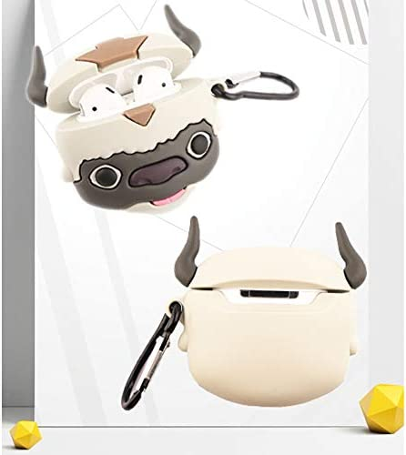 Jozabova Avatar Appa Miyazaki Hayao for AirPods Pro Case, Minions 3D 2 1 Ponyo Cute Cartoon Soft Silicone Protective Cute Airpods Case with Keychain,for Boys Teens Girls (Appa Airpods Pro) 41G5W4Y 2BTLL