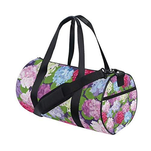 (Brighter Autumn Hydrangea Fitness Sports Bags Gym Bag Travel Duffel Bag for Mens and)