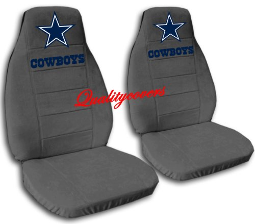2 Charcoal Dallas seat covers for a 2007 to 2012 Chevrolet Silverado. Side airbag friendly. by Designcovers