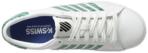 K-Swiss Women's Belmont So Low-Top Sneakers White (White/Emerald Green) 9F0d0IU6X