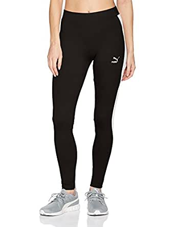 PUMA Women's Classics Logo T7 Leggings, Cotton Black, XS