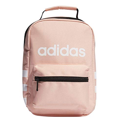adidas Unisex Santiago Insulated Lunch Bag, Glow Pink/ White, ONE SIZE