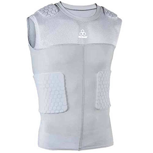 McDavid Classic 7870Y CL Youth Hex Pad Mesh Sleeveless 5 Pad Body Shirt Grey XL