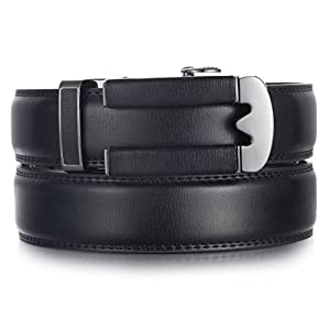 Mio Marino Ratchet Belts for Men – Genuine Leather Dress Belt – Automatic Buckle