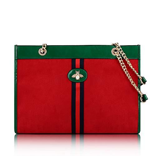 (Beatfull Designer Bee Soft Tote Handbag for Women, Fashion Tiger Top Handle Bag Shopping Shoulder bag Tote Set Purse)