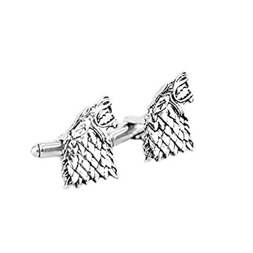 (Athena Brands Game of Thrones - Stark TV Wedding Groomsman Mens Boys Cufflinks Set w/Gift Box)