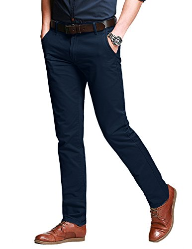 - Match Men's Slim Fit Tapered Stretchy Casual Pants (32W x 31L, 8050 Navy Blue#1)