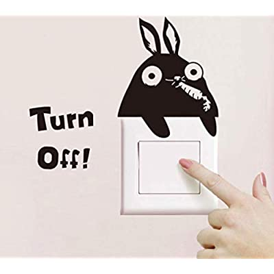 Removable Switch Sticker, 4 Turn Off Light Switch Decor Decals- Bear, Panda, Rabbit and Butterfly Cartoon Designs, Family DIY Decor Art Stickers Home Wall Kids Bedroom Office Decoration: Home & Kitchen