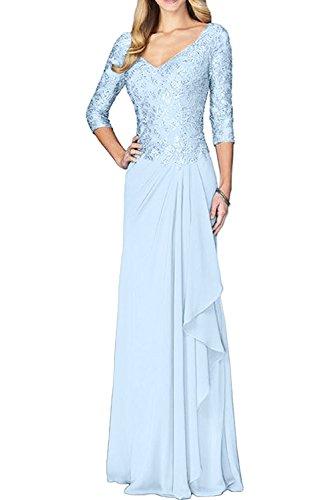 Rock Braut Langarm La Abendkleider Linie Blau Marie Chiffon Spitze Hell A Brautmutterkleider Elegant Festlichkleider P4I4U