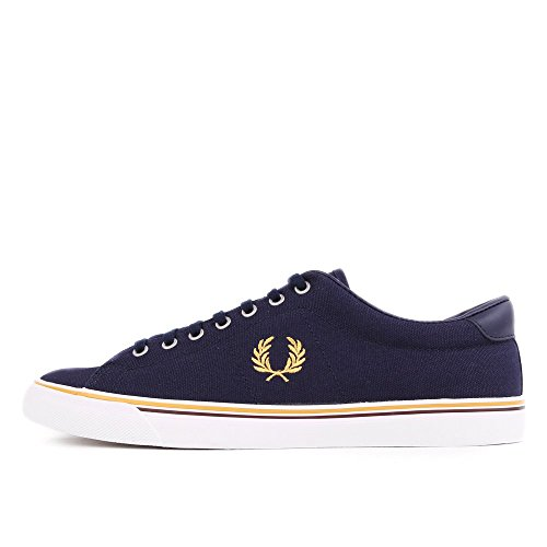 Fred Perry Underspin Canvas Carbon Blue Yellow B9090584, Deportivas Blue