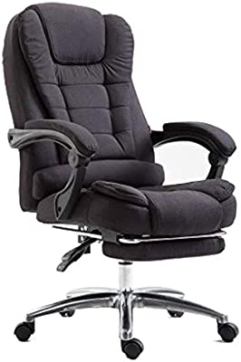 Computer Chair Home Office Chair Fabric Reclining Boss Chair Lifting Swivel Chair Flat Reclining Office Chair Game Chair Soft And Comfortable Color Black Amazon Com Au Home