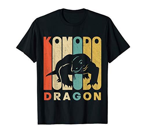 Vintage Retro Komodo Dragon Silhouette T-Shirt