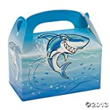 shark party favor box - Shark Birthday Party Treat Boxes - 12 ct
