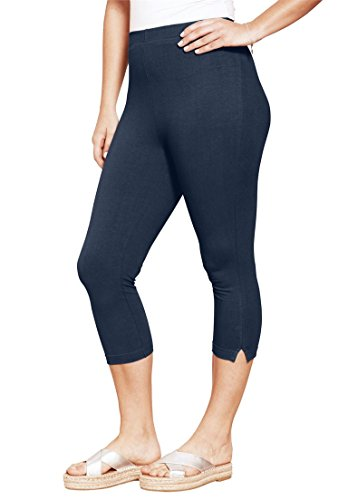 Roamans Womens Stretch Capri Leggings product image