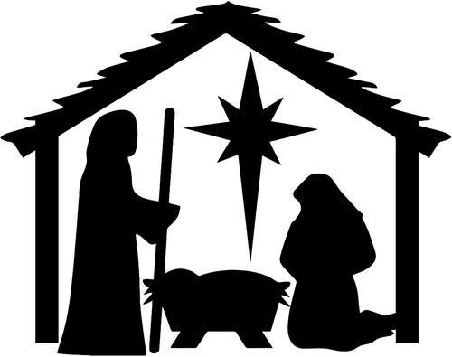 Nativity Christmas Vinyl Decal Sticker- 6