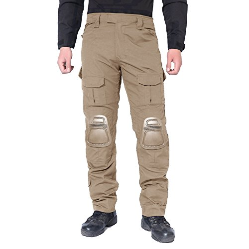 (MAGCOMSEN Army Pants SWAT Uniform for Men Military BDU Combat Tactical with Knee Pads)
