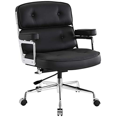 (Modway Remix Deluxe Vinyl Executive Office Chair in Black)