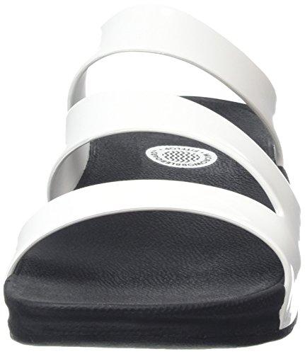 Fitflop Womens Superjelly Twist Flip Flop Bianco