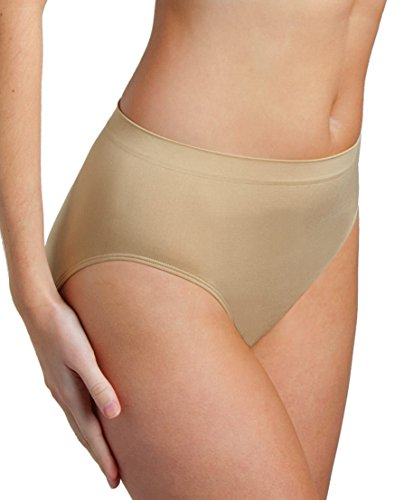 Genie Briefs Womens Super-Soft Seamless Smooth Fit Panties (Nude, 2X)
