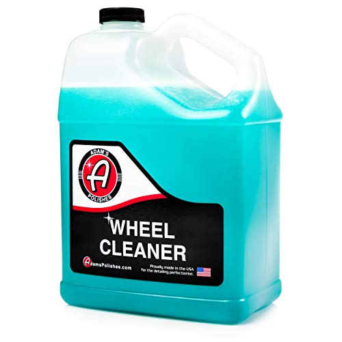 Adam's Deep Wheel Cleaner Gallon - Color Changing Formula That Eliminates Tough Brake Dust On Rims, Clear Coated, Polished, Painted & Plasti Dipped Wheels- Gentle On Most Finishes During Car Wash (Best Wheel Cleaner For Painted Wheels)