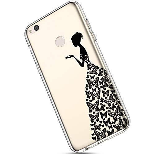 Ukayfe fiore Cover Silicone Leggere Chiaro Protettiva Lite Farfalla Gel Con 8 E Huawei Tpu Lite Modello Case Gomma Ultra Nera Trasparente Honor Custodia Sottile Morbida Per rnxwqrIAPg
