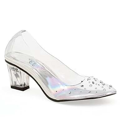 "Amazon.com | Ellie Shoes 2"" Heel Clear Slipper Children's"