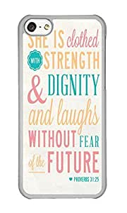 Iphone 5C Case Words Clear PC Hard Case For Apple Iphone 5C