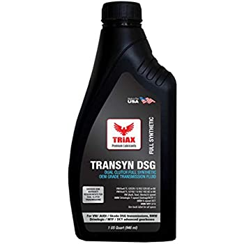 Triax TRANSYN DSG/DCT Dual Clutch Full Synthetic ATF - Lifetime Fill - for All Dual Clutch Transmissions - High Performance Speed Shift with SureShift No ...