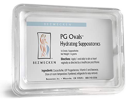Bezwecken - PG Ovals - 16 Oval Suppositories - Same Trusted Formula, New Improved Shape - Professionally Formulated to Alleviate Vaginal Dryness in Women of All Ages - Progesterone-Only Alternative