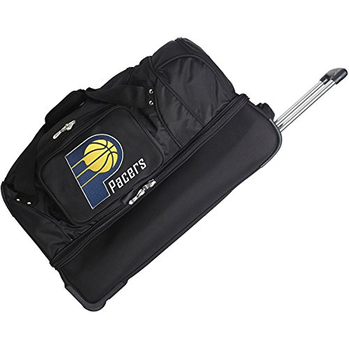 DENCO INDIANA PACERS 27 INCH 2-WHEELED DROP BOTTOM DUFFEL by Denco Luggage 1048749