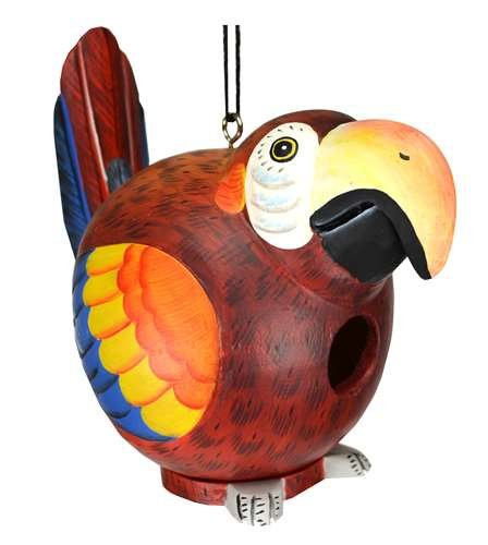 Songbird Essentials Red Parrot Gord-O Birdhouse