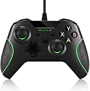 Game Controller Replacement for Xbox One Controller,Crifeir Wired Game Contoller with Dual Vibration and Audio