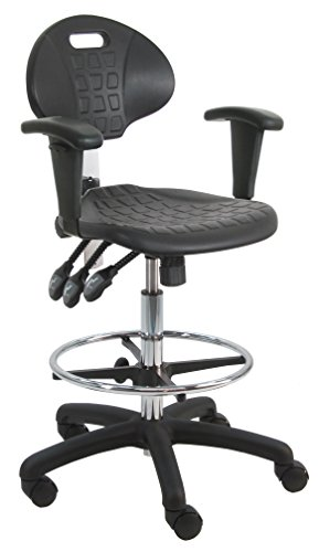 BenchPro Deluxe Polyurethane HD Cleanroom Lab Chair/Workbench Stool with Footring and Adjustable Armrest  sc 1 st  Amazon.com & BenchPro Deluxe Polyurethane HD Cleanroom Lab Chair/Workbench ... islam-shia.org