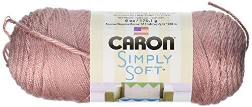 Caron Simply Soft Yarn, 6 Ounces/315 Yards, Victorian Rose, Single Ball