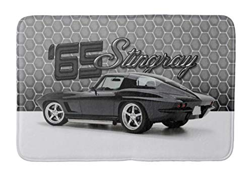 Aomsnet 1965 chevy corvette vette stingray 396 classic car Bathroom Decor Mat, Shower Rug Mat Water Absorbent Fast Drying Kitchen, Bedroom, Spa Tub. 30