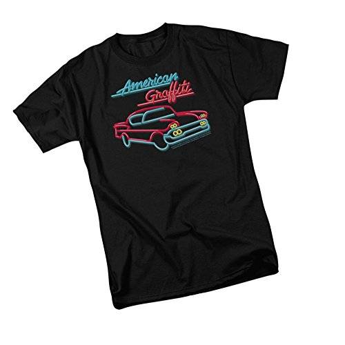 Neon Logo & Car -- American Graffiti Adult T-Shirt, Large
