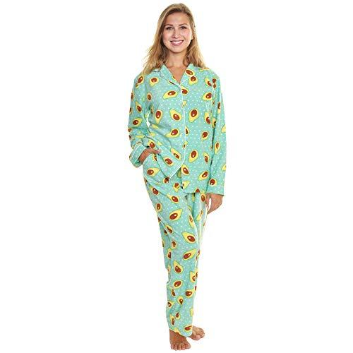 Angelina Women s Fleece Novelty One-Piece Hooded Pajamas  22f02c3b1