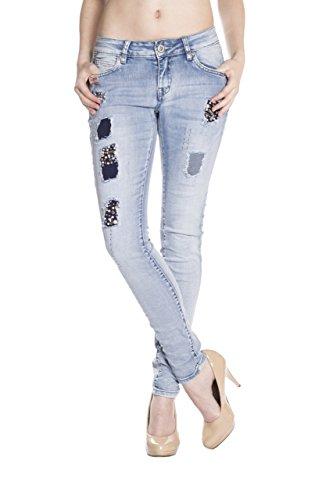 Monkey Jeans skinny para Azul mujer Vaqueros Básico Blue dw47Uq4