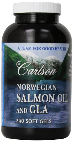 Carlson Labs Norwegian Salmon Oil and GLA, 240 Softgels