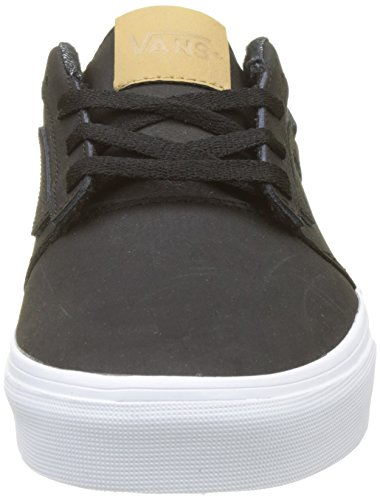 Hombre Leather Stripe Vans Negro Leather Chapman H17 Zapatillas para APXAcwnqB