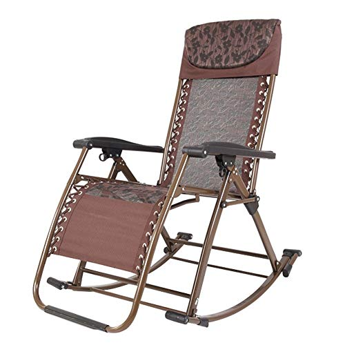 - Vvlo Zero-Gravity Reclining Chairs Breathable and Cool Folding Chairs Rocking Chair Garden Armchair (Color : B)